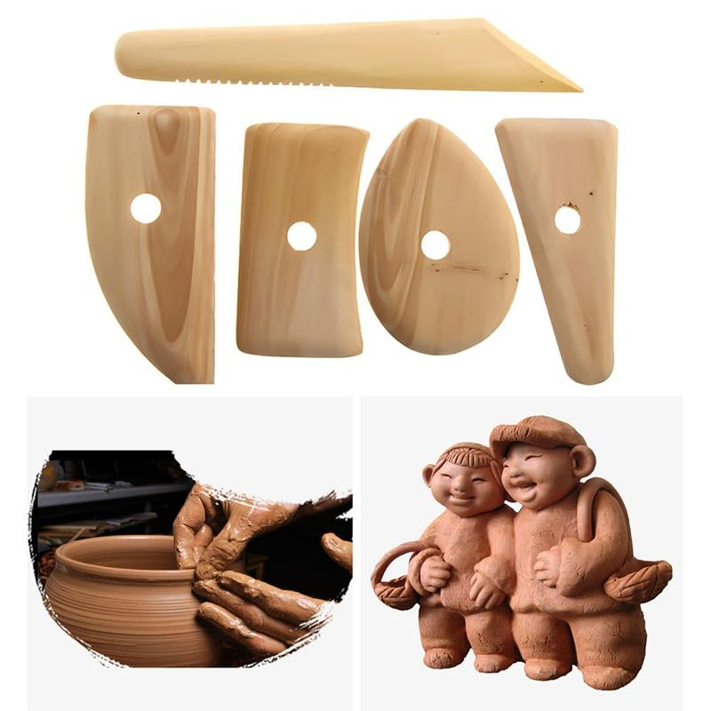 Wood Pottery Clay Sculpture Ceramics Angel Figurines Molding Tool Home Decor