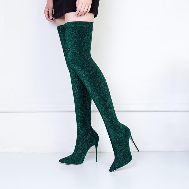 Sıcak Satış Sonbahar Moda Seksi Overknee Elastik Kadın Kış Kadın Çizme