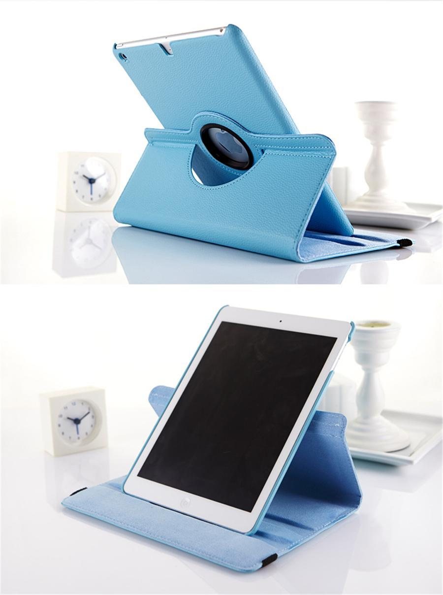 360 Degree Rotating Applicable Ipad pro10.5 Protector Mini54 Litchi Grain Rotary Leather Case Air2 Tablet Holder Shell Free Shipping