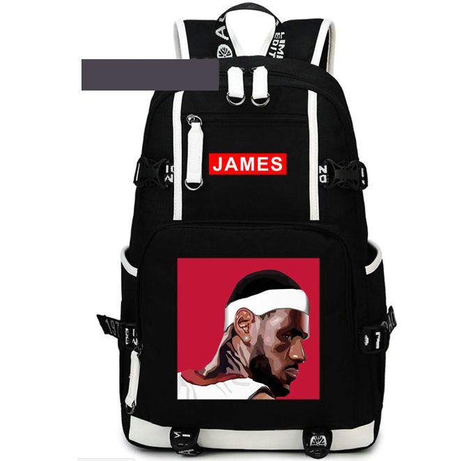 الملف الشخصي على ظهره ليبرون جيمس اليوم حزمة الجانب الوجه حقيبة مدرسية كرة السلة packsack كمبيوتر محمول على الظهر الرياضة المدرسية خارج daypack daypack