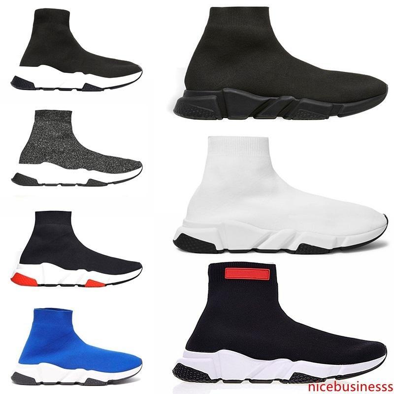 Speed Trainer Socken-Schuhe für Männer Frauen Schuhe Schwarz Weiß Rot Blau Herren Designer-Trainer-Sport-Turnschuh Größe Lauf 5,5-13