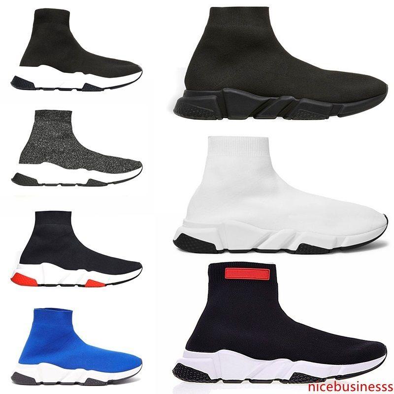 Zapatos Speed Trainer calcetín en Zapatos corrientes de las mujeres para hombre Azul Rojo Blanco Negro Tamaño Diseñador Formadores deporte zapatilla de deporte 5,5-13