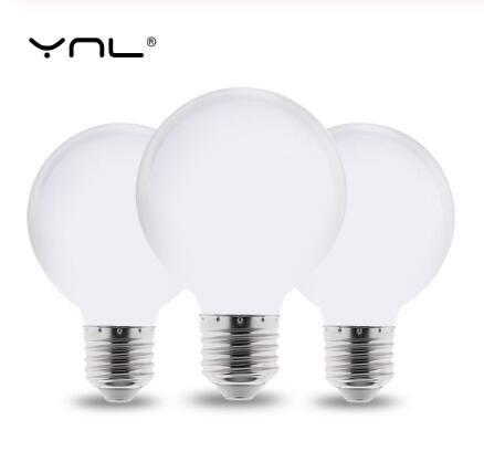 Milky E27 LED Bombilla de luz 220V 110V 85-265V Lampada Lámpara LED G80 G95 G125 Ampolla LED Bombilla Frío / Cálido Blanco Para Araña