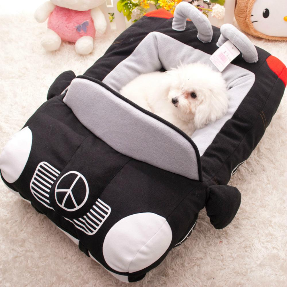 Fashion Car Style Sofa Dog Bed Breed for Small Large Dogs Accessoires Cat Bed Winter Warm Pet Blanket Mat Pets Lounger Sofa SH190926