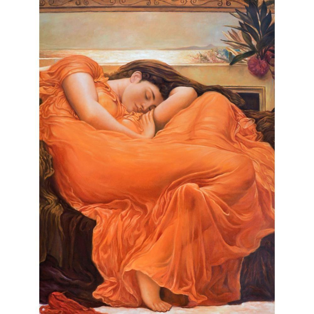 Lord Frederic Leighton - Flaming Juin par l'huile portrait Frederic Leighton peinture peint à la main décoration murale art classique