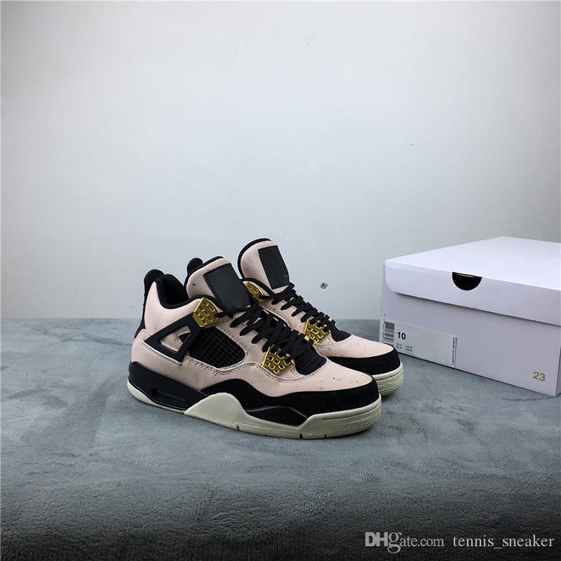 Высочайшее качество 4 WMNS Silt Red Черно-фантомная мужская баскетбольная обувь AQ9129-601 Мужские дизайнерские кроссовки с коробкой