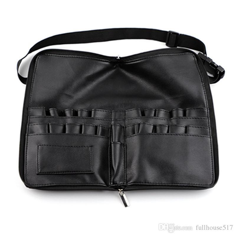 artista de maquillaje correa del cinturón bolsa de maquillaje cosmético del cepillo 24 bolsillos bolsa de herramientas bolsa de la cintura de gran capacidad