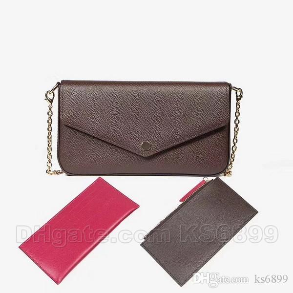 New Arrival Newest Bags 3pcs Sets Fashion Women Designer Shoulder Bags Top Quality Bag Size 21/11/2 cm Model 612760 With Box