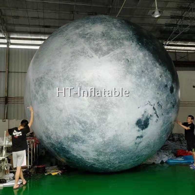 شحن مجاني حار بيع 3M حزب نفخ يتوهج في الظلام القمر بالون نفخ LED الإضاءة كوكب القمر للبيع