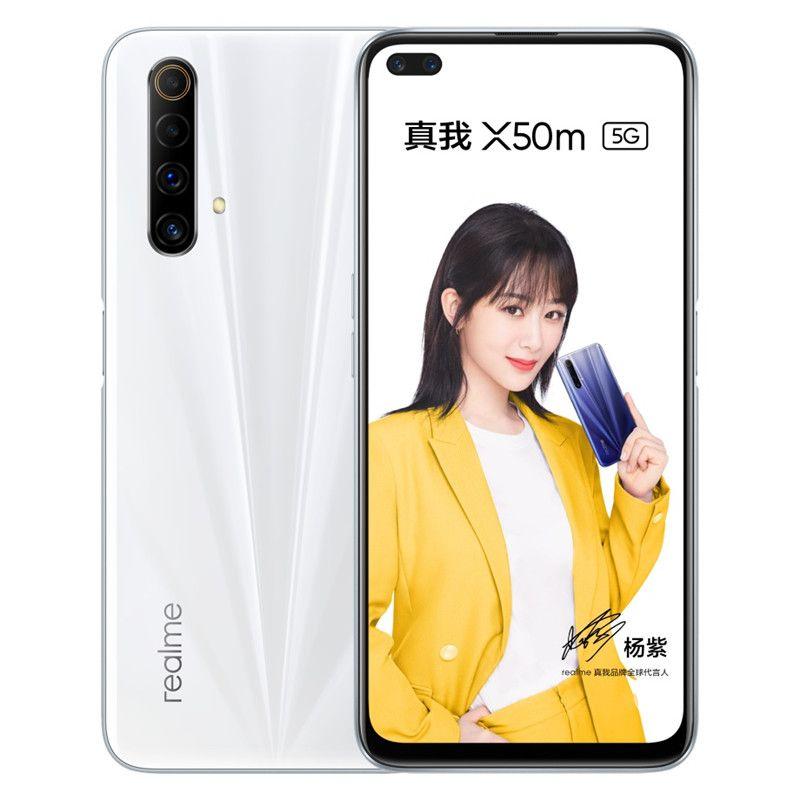 "Originale Realme X50M 5G LTE Mobile Phone RAM 8GB 128GB ROM Snapdragon 765 Octa core Android 6.57"" Phone 48.0MP NFC Face ID di impronte digitali cellulare"