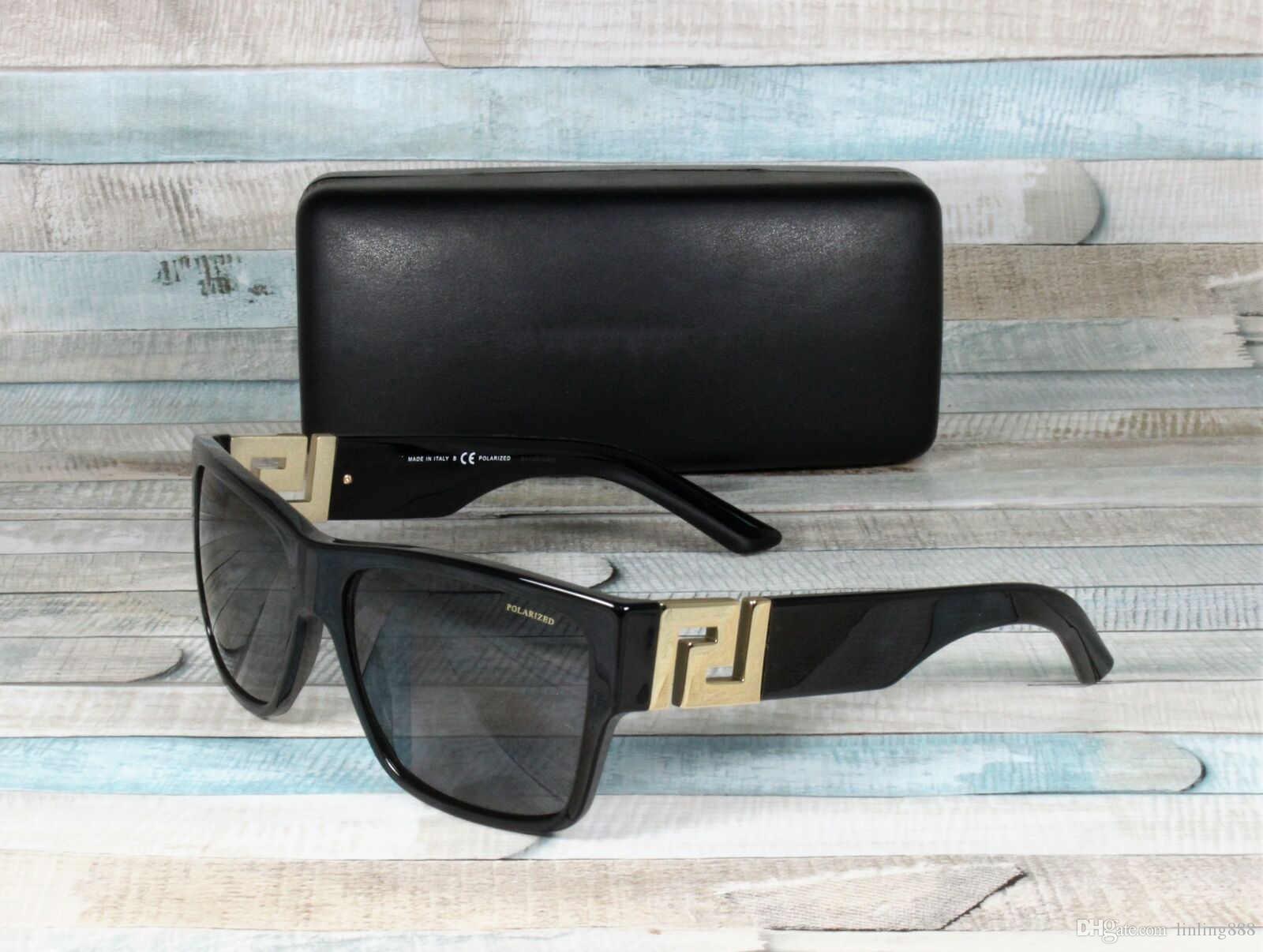 Los nuevos hombres 4296 NEGRO GRIS polarizado 59 mm para hombre Gafas de Sol Gafas de sol Gafas de sol de lujo Marca de moda para mujer para hombre de los vidrios