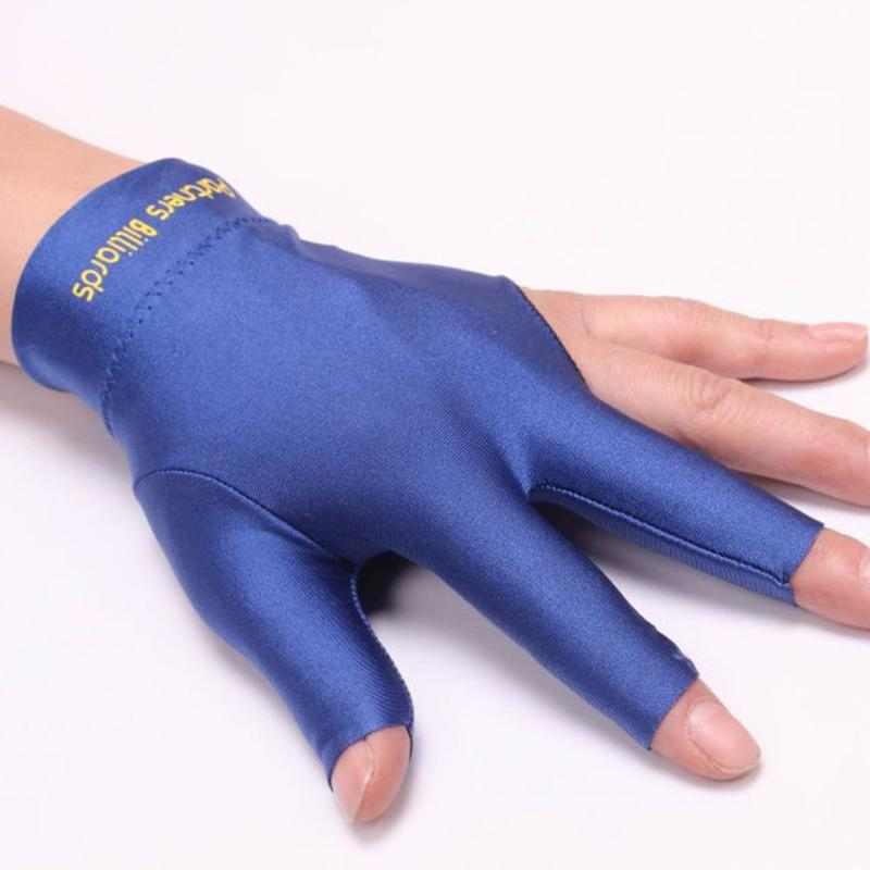 Snooker Billiard Cue Spandex Gloves Pool Left Hand Open Three Finger Gloves US