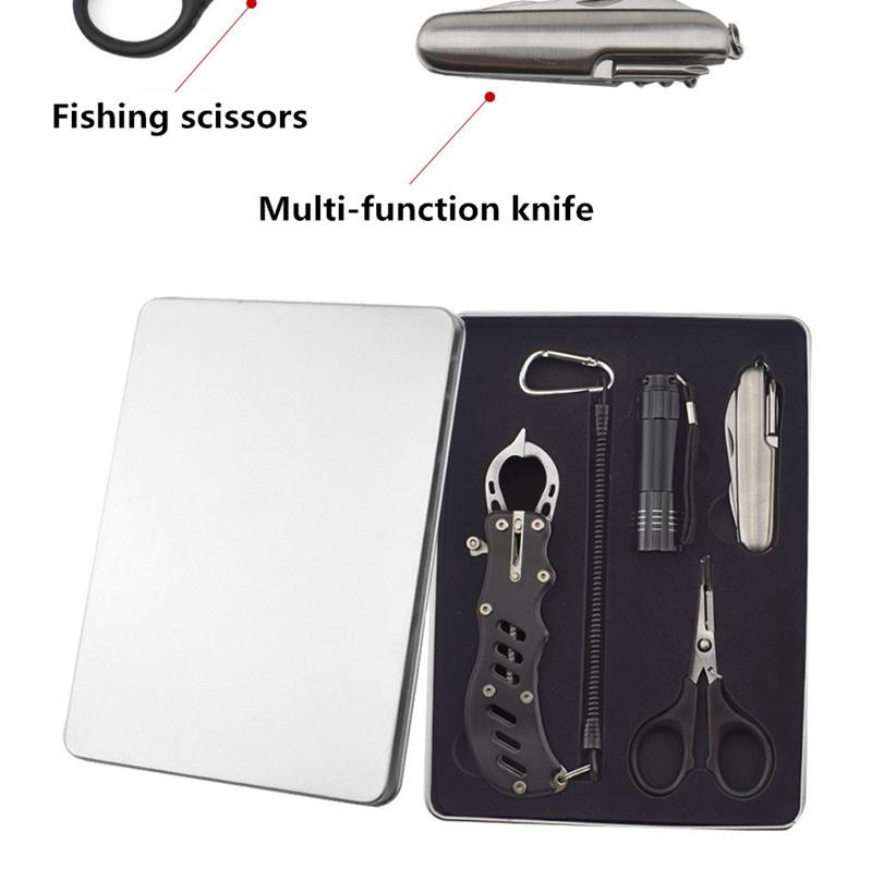 EDC Camping Outdoor 4 In1 Portable Multifunctional Survival Tools Kits Fishing Tools Travel Survival Emergency mini Torch Equipment (1)