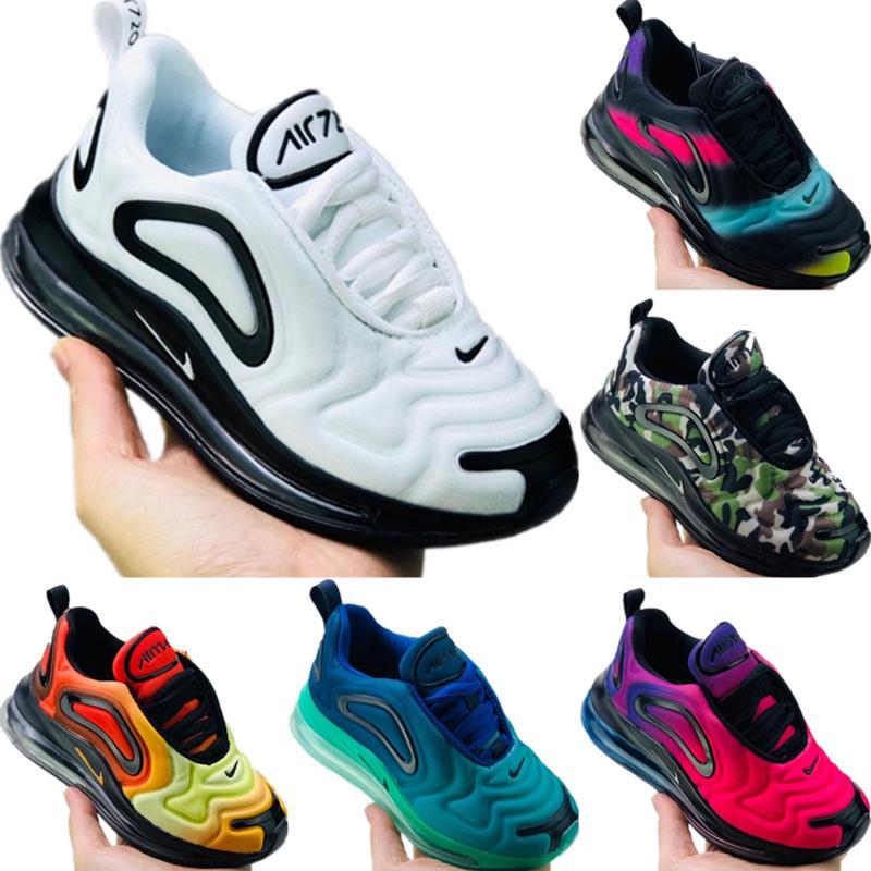 2020 Betrue Kids Fly Wire Радуга Градация Детские кроссовки Оригиналы Betrue Kid Увеличить Air Демпфирование Jogger Sneaker