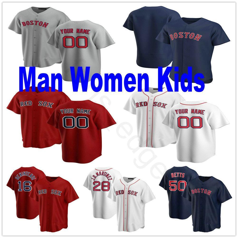 2020 Nueva encargo Andrew Cashner Rafael Devers Chris Sale David Price, David Ortiz Mookie Betts cosido Hombre Mujeres Niños Jóvenes jerseys del béisbol