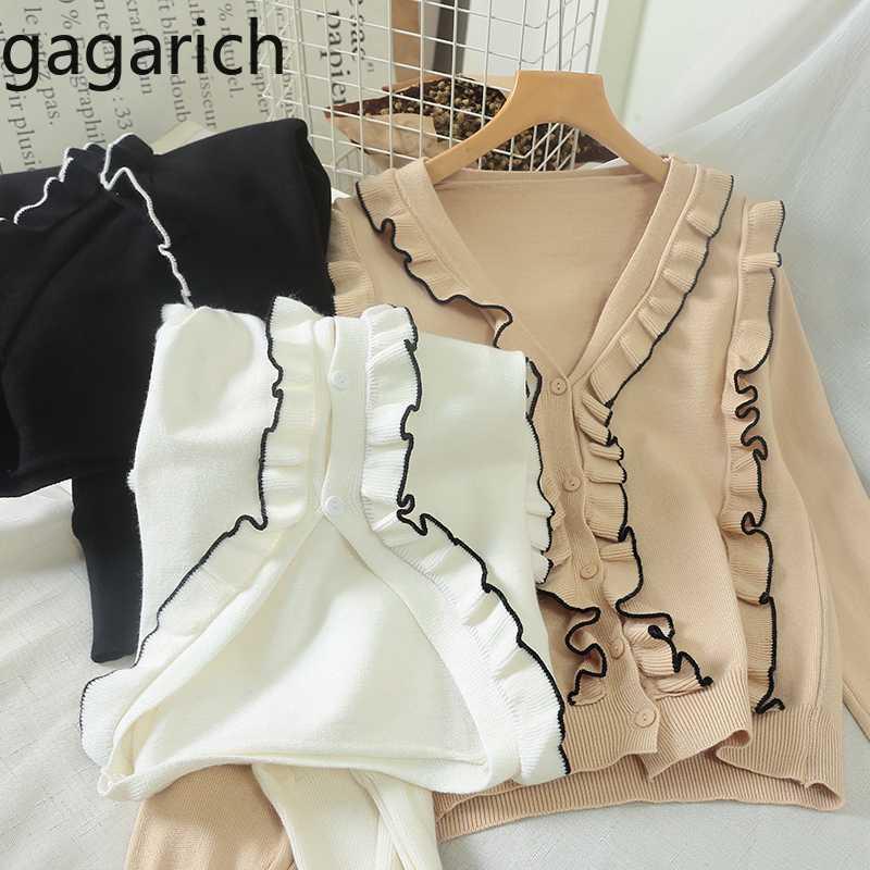 Gagarich Donne Maglione Autunno Primavera 2020 stile dolce sottile lavorata a maglia con scollo a V a maniche lunghe coreano Edition