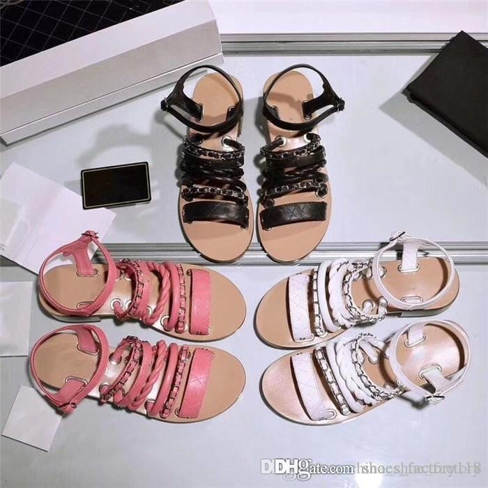 Primavera estilo e verão Super sapatos de mulheres quentes, cadeia sandálias Pele de vaca, tênis para caminhada Casual
