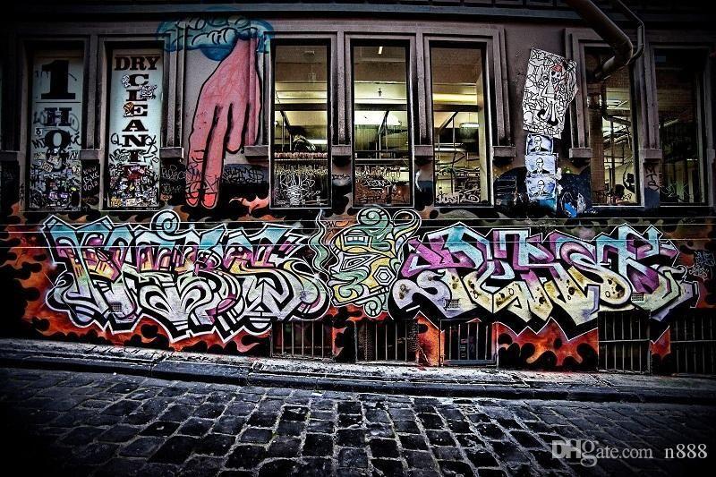Sokak grafiti Kentsel Sanat Yüksek Kalite HD Yağ tuval Ev Dekorasyonu Wall Art Çoklu Boyutları / Çerçeve g193 200.311 üzerinde boyama yazdır