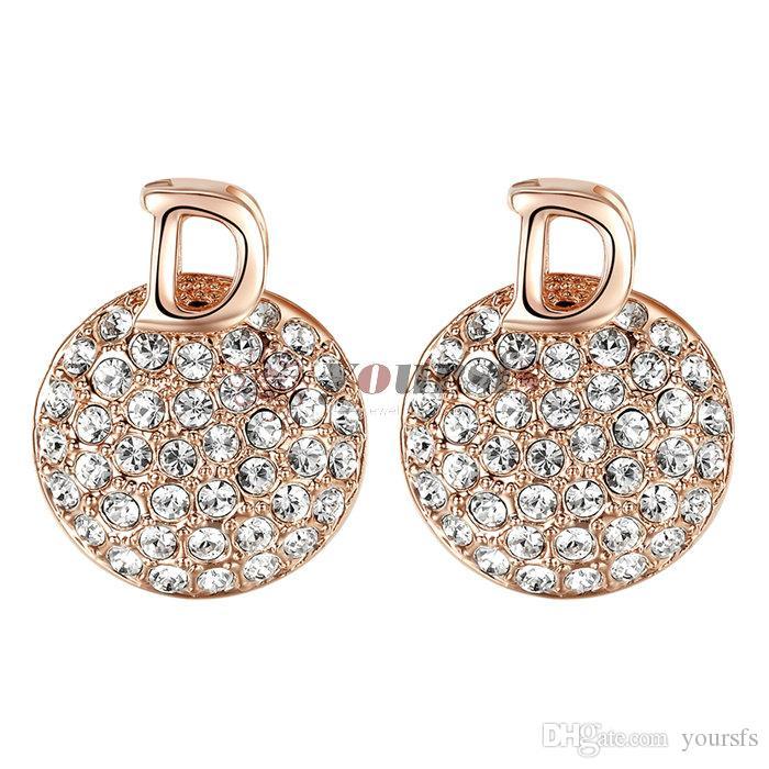 Yoursfs Fashion Jewelry 18k chapado en oro en forma de Drino de zircon de zircon, regalo de cumpleaños de mujeres aniversario