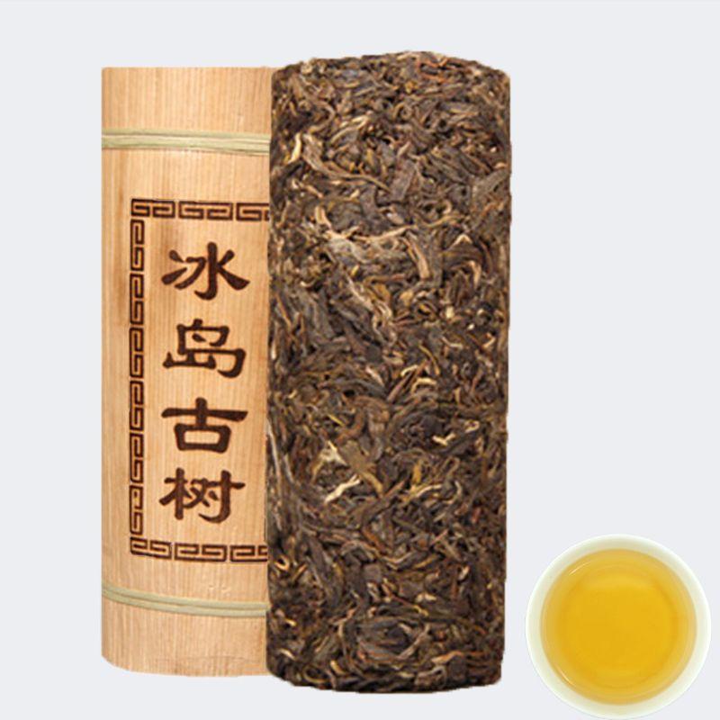 Puerh Tee Drachen Säule Bambusrohr Island alter Baum puer Material PU-äh Grüner Tee 500g Chinesische Pu'er Grüne Lebensmittel roh Puerh Tee