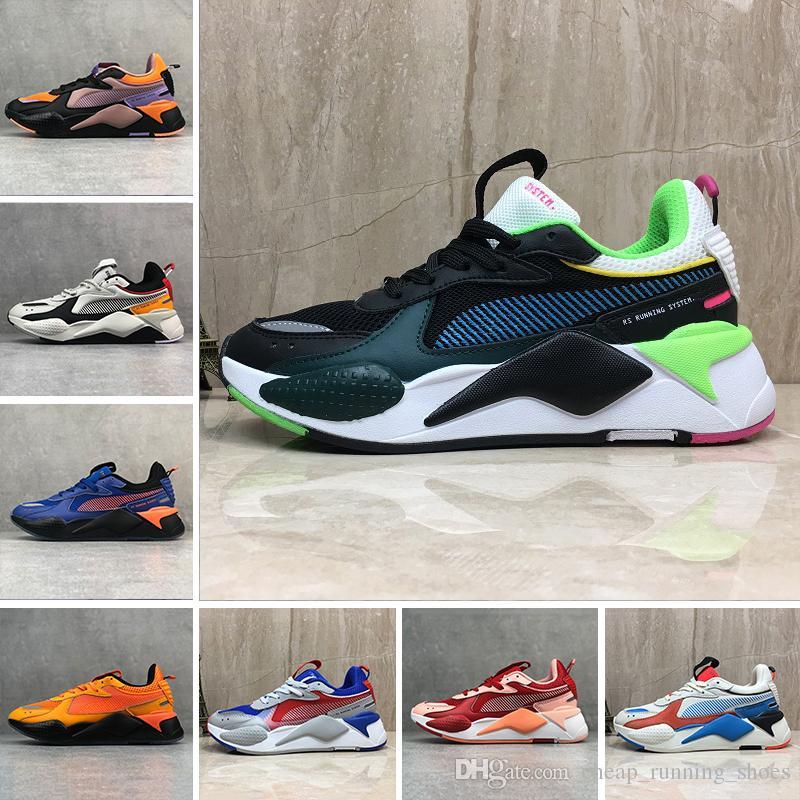 أحذية الرجال النساء RS-X إعادة ابتكار أحذية عارضة النظام أبيض أسود أزرق أحمر أصفر أبي رياضي موضة أحذية الركض
