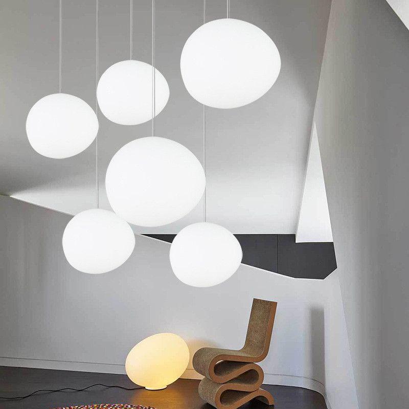 Северный глобус подвесные светильники белый стеклянный шар кулон лампа блеск подвеска кухня светильник освещение ламмарас Colgantes