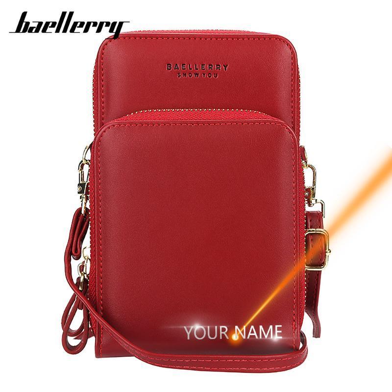 2020 Customized Mulheres Messenger Bags Mini Nome Gravura Qualidade Feminino sacos de telefone de bolso Mulheres Moda pequeno para a menina