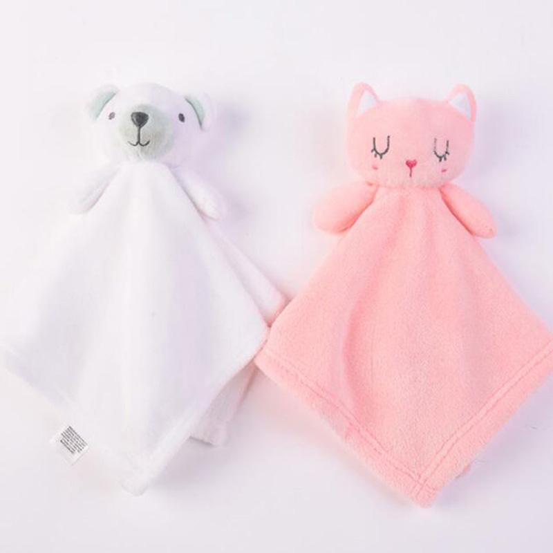 Soft Plush Fleece Toys Baby Infants Sleep Appease Towel Cartoon Bear Mouse Cute