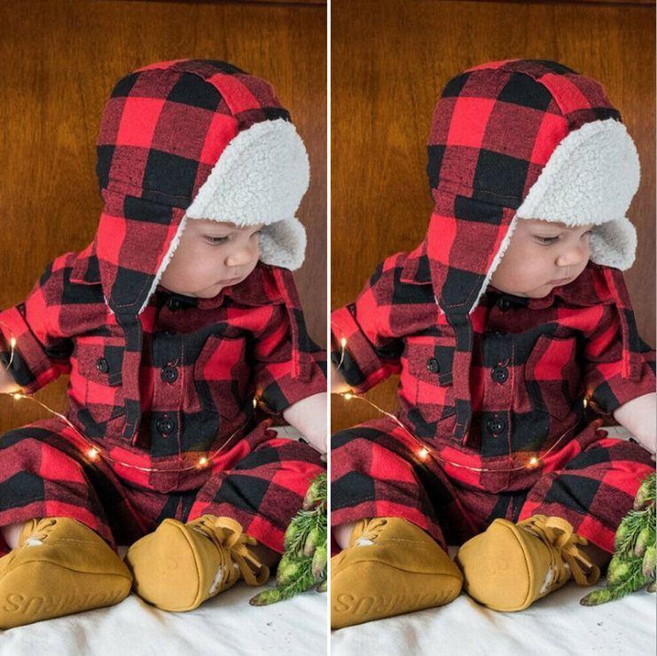 Roupa Bebe одежды обмундирования милый младенец мальчик комбинезон осень зима Unisex Одежда Наряды одежду на новый год Новый