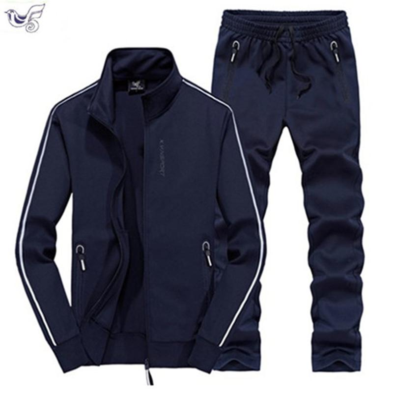Xiyouniao Track Tuta uomo 6xl 7xl 8xl inverno autunno Autunno Due pezzi Abbigliamento Set Marchio Casual Tracksuit Sportswear Sweaar Sweaar T200707