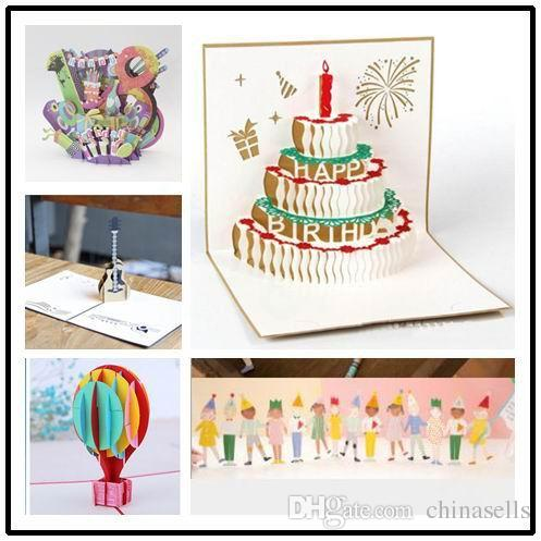 Admirable 3D Birthday Cake Paper Birthday Pop Up Card Party Gifts Greeting Personalised Birthday Cards Veneteletsinfo