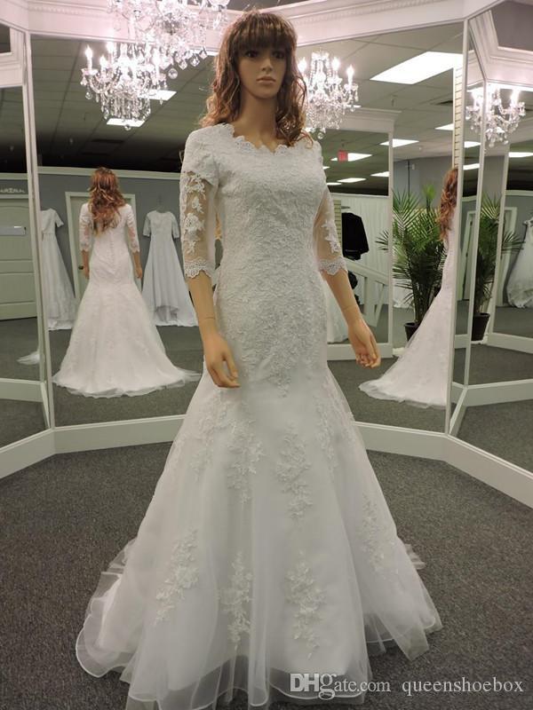 Africano di lusso a Dubai arabi della sirena Abiti da sposa 2020 Plus Size con pizzo appliques Corte dei treni su ordine abito da sposa Abiti da sposa