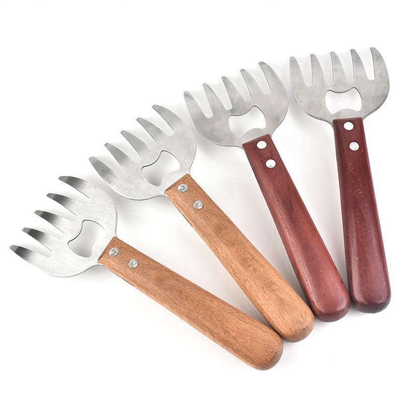 1шт Медведь лапка мяса Splitter Многофункциональный Bbq Гриль Инструмент Медведь лапка Вилка Мясо Slicer