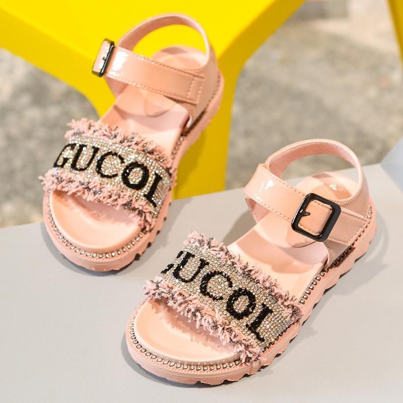 Çocuk Sandalet Yaz 2020 Yeni Kız Sandalet Moda Püskül Çocuk Prenses Ayakkabı