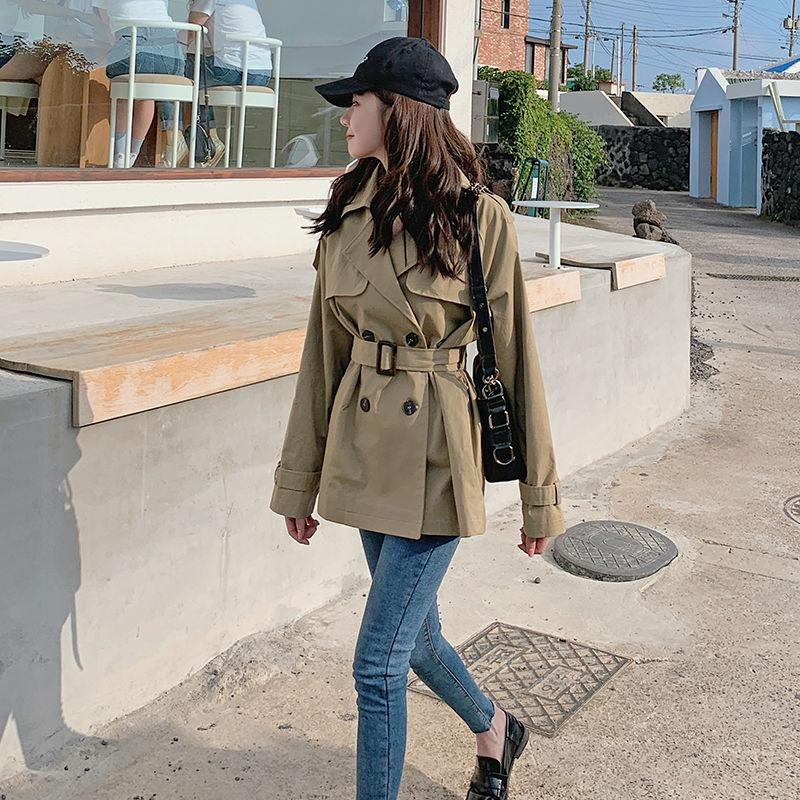 2020 Femmes Printemps Mode Automne coupe-vent Pardessus Femme Trench Casual Moda Mujer Outwear Jupettes Vintage L10 Manteau