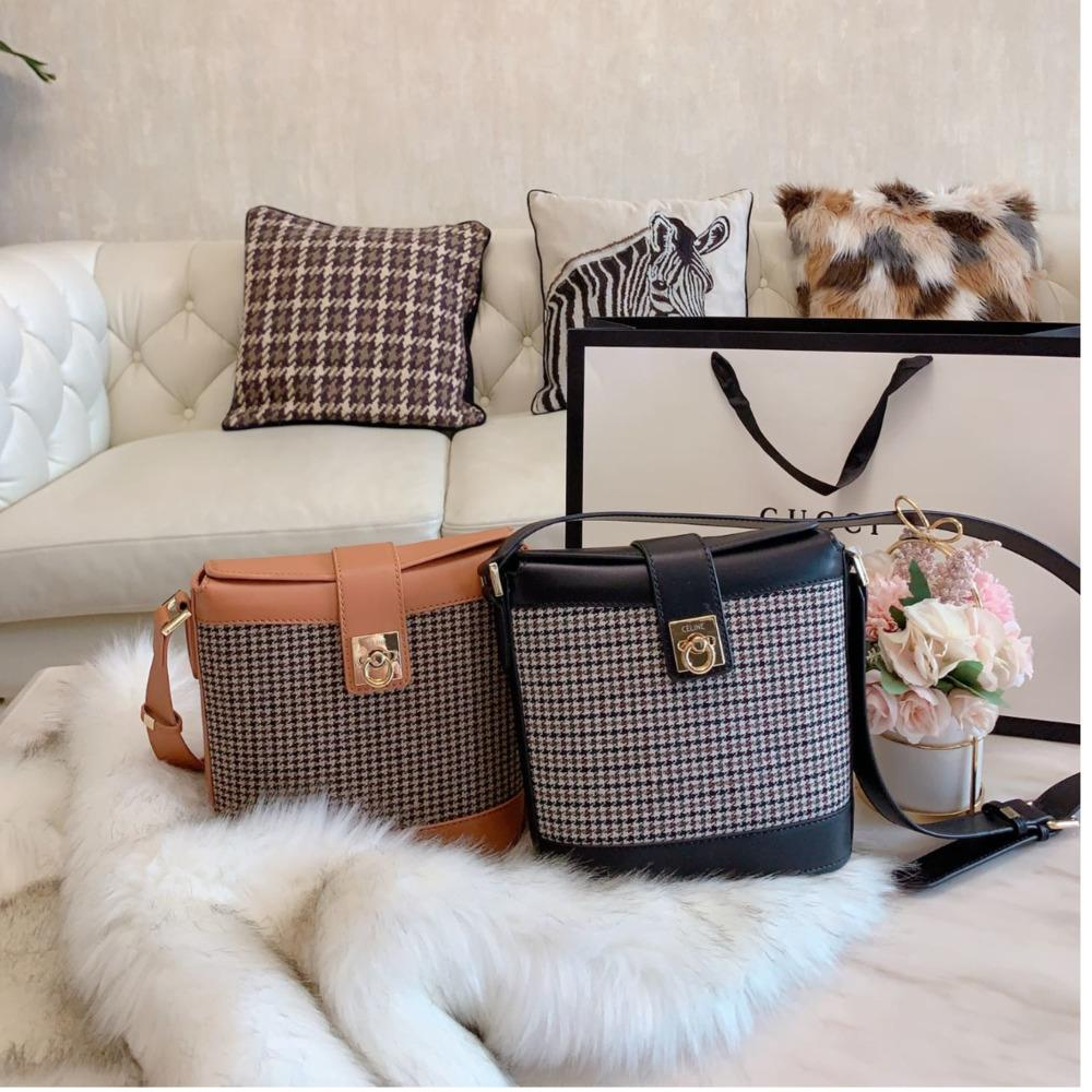 Женщины мешок высокого качества плеча сумочку size18 * 20см Изысканный подарок коробка WSJ040 # 120929 whatsyan04