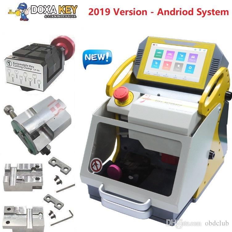 4 Kelepçe SEC-E9 Otomatik Araba Anahtarı Yapma Makinesi Lazer Anahtar Kesme Makinesi Satılık 2019 Yeni Anahtar Teksir