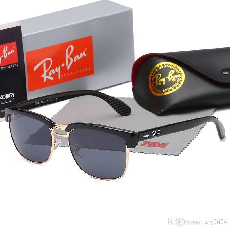 Box ile Erkek Adumbral gözlükler UV400 Marka Renkler Yüksek Kalite uuttr Metal Çerçeve Erkek DesignerSunglasses Lüks Güneş DesignerGlass