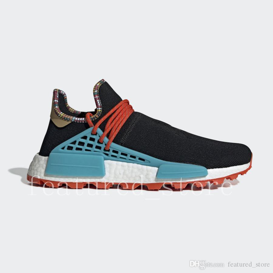 Acheter Adidas NMD Human Race Top Heart Mind Inspiratio Chaussures Race Humaine Blanc Noyau Noir Clair Ciel Poudré Bleu Hommes Et Femmes Chaussures De