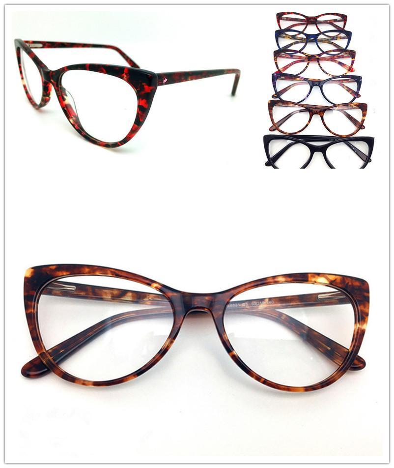 الجديدة أعلى جودة العلامة التجارية تصميم بصري إطارات المرأة القطة خمر خلات نظارات النظارات بلانك نظارات إطار نظارات نظارات 8821