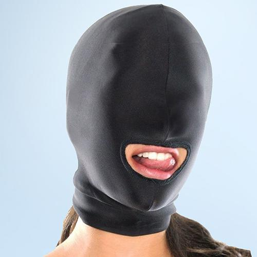 Starter Sexy Toys Fetisch Blindfold Hood Maske Kopf Schwarz-Spiele Erotische Maske Hood Sexy Augen BDSM Kopfbedeckungen Slave Bondage Maske