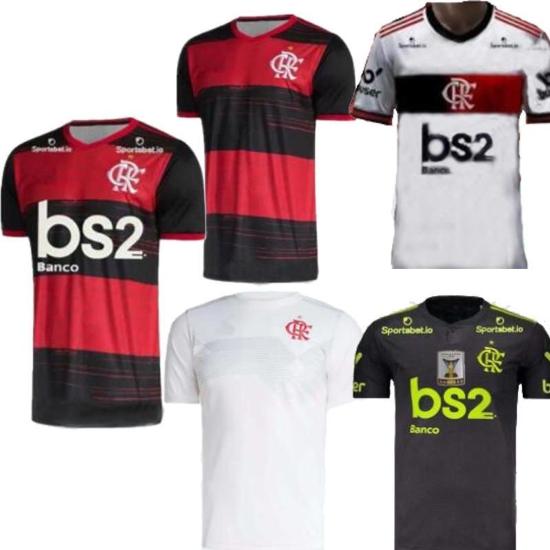 2020 Brazil club Flamengo home red away white Mens soccer jersey Camisa de futebol DIEGO Gabriel B.HENRIQUE ARRASCAETA football shirts 2021
