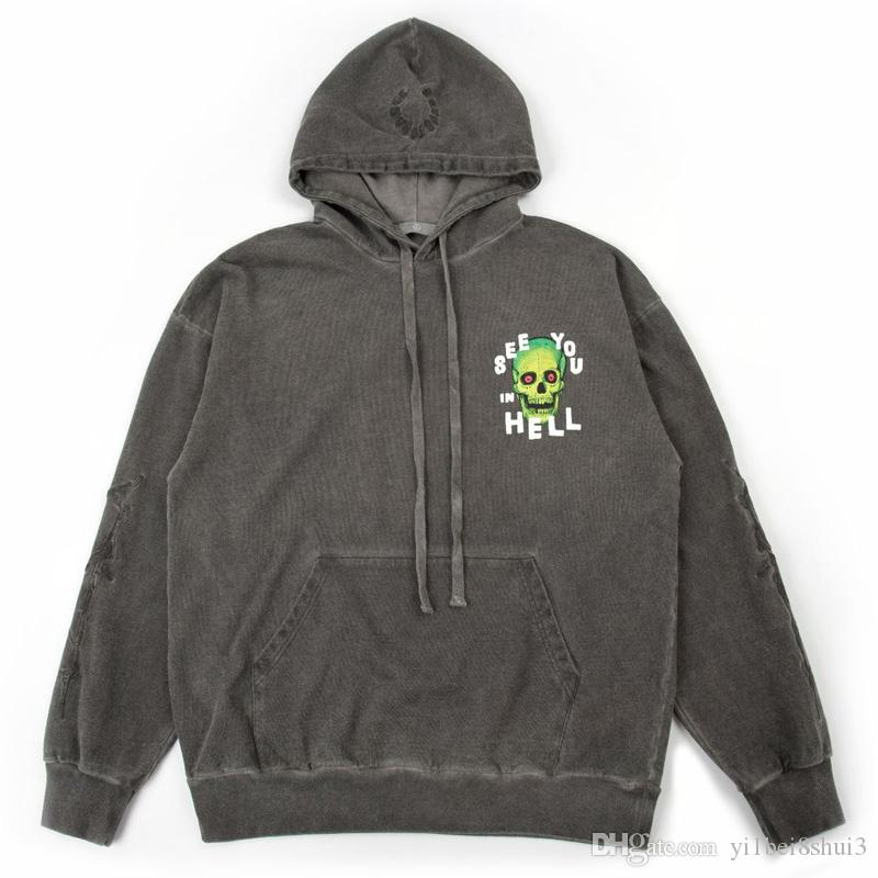 I Cant Go to Hell Hoodies Sweatshirt Pullover for Men Stylish Classic with Pockets XL Gray