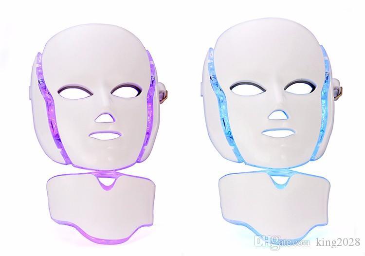 منتج جديد قناع ملون LED 7 ألوان مع وظيفة متناهية الصغر إزالة تجاعيد حب الشباب الجلد تجديد أدوات العناية بالوجه