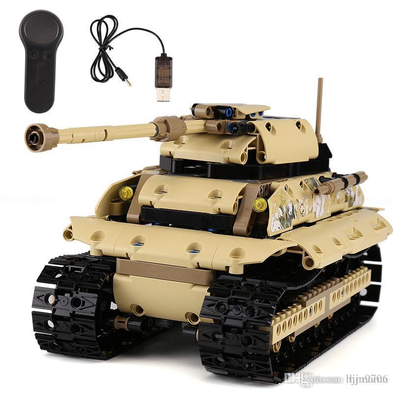 Yeshin 13011 لعب العسكرية السلسلة الثقيلة حفارات دبابات مجموعة بناء كتل الطوب البعيد هدايا مراقبة السيارات لعب اطفال عيد الميلاد