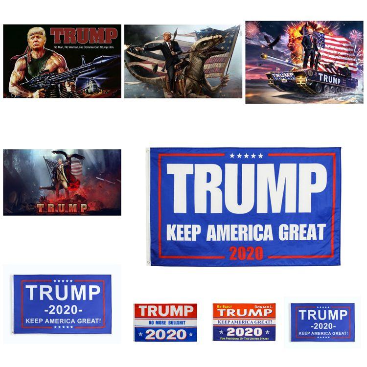 90 * 150cm Trump generale Bandiera Elezioni 2020 US Trump Elezione bandiera degli Stati Uniti Donald decorazione del giardino Bandiera Keep America Grande T3I5812