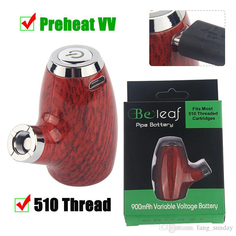 El cigarrillo electrónico E Pipe KY32 Vape Pen 510 Tema Precalentar el voltaje variable vaporizador de vapor de madera 900mAh Mods inteligente Carttridge batería