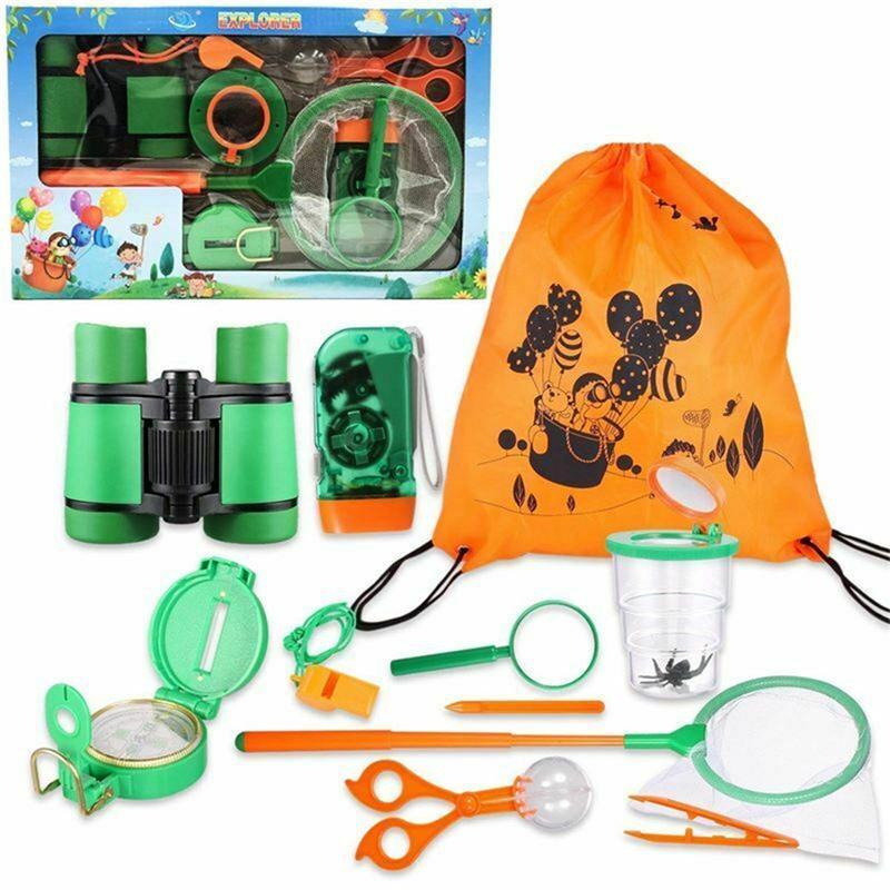 ألعاب للأطفال في الهواء الطلق 11PCS Explorer مجموعة هدايا عيد الميلاد عيد الميلاد هدية كيد مجموعة في الهواء الطلق مغامرة الحشرات التقاط لعب اطفال ورضيع