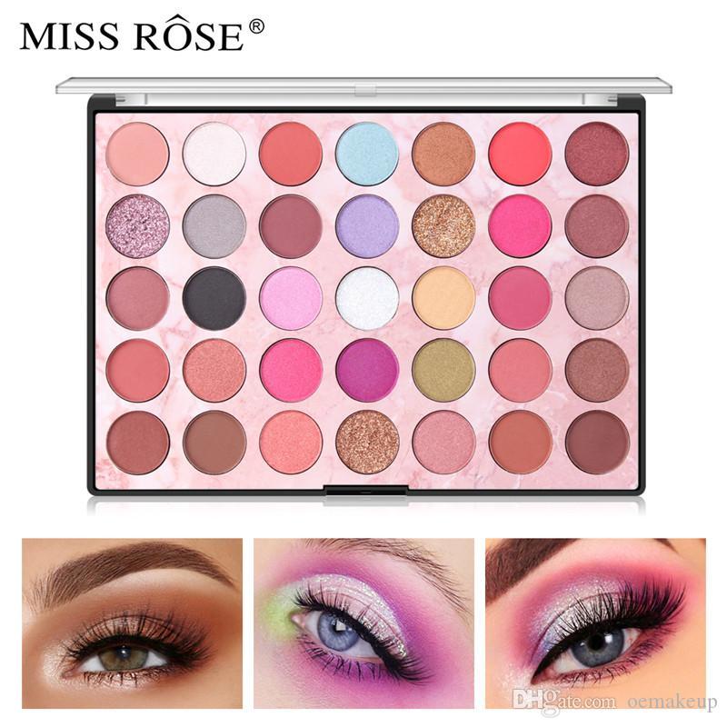 2019 MISS ROSE 35 Color Shades Studio Rainbow Makeup Palette di ombretti Evidenziatore Shimmer Make upPigment Eye Shadow Pallete