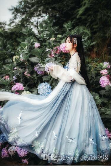 Die neue Hanfu Frau Happy Guest Xia Qi Brust Rock alten Kostüm Fee verbesserte chinesische Elemente frisch täglich elegant